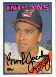 Brook Jacoby autographed Cleveland Indians 1988 Topps card