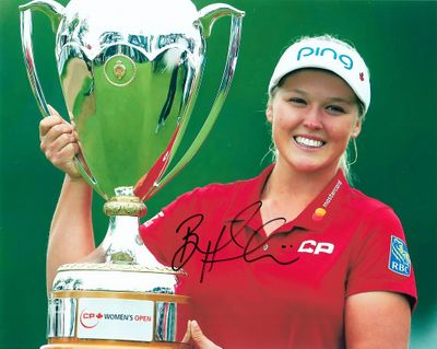 Brooke Henderson autographed 2018 Canadian Pacific Women's Open 8x10 photo