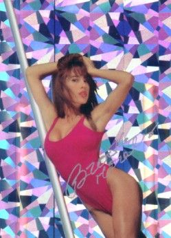 Brooke Morales autographed Bench Warmer 1992 swimsuit prism insert card