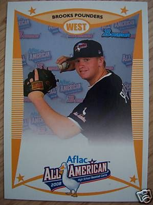 Brooks Pounders 2008 AFLAC Bowman Rookie Card