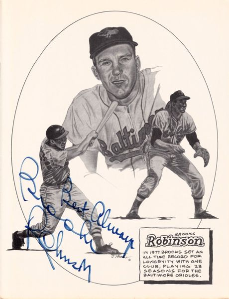 Brooks Robinson autographed Baltimore Orioles 8x10 art print inscribed Best Always