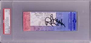 Brooks Robinson autographed Baltimore Orioles Memorial Stadium last game ticket PSA/DNA PSA 9