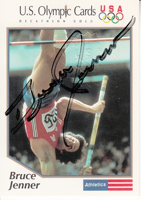 Bruce Jenner certified autograph 1991 Impel US Olympic card