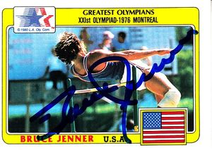 Bruce Jenner autographed 1983 Topps Greatest Olympians card