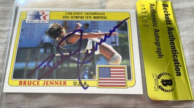 Bruce Jenner autographed 1983 Topps Greatest Olympians card (BAS authenticated)