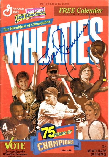 Bruce Jenner autographed 1999 Wheaties 75 Years of Champions calendar