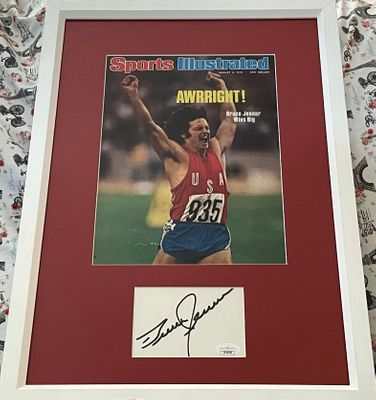 Bruce Jenner autograph matted and framed with 1976 Sports Illustrated cover (JSA)
