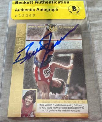 Bruce Jenner autographed U.S. Olympic 1996 Upper Deck Reflections of Gold insert card (BAS authenticated)