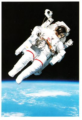 Bruce McCandless Space Shuttle Challenger first untethered spacewalk 1994 NASA postcard