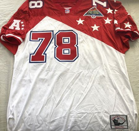 Bruce Smith authentic Mitchell and Ness 1995 AFC Pro Bowl triple stitched size 56 jersey NEW