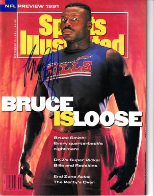 Bruce Smith autographed Buffalo Bills 1991 Sports Illustrated