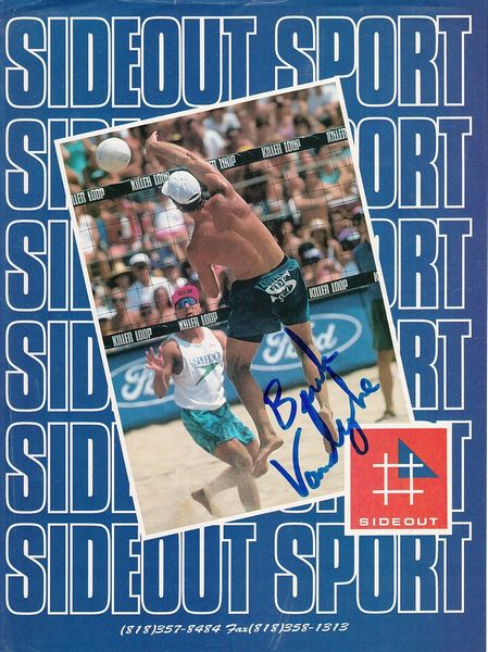 Bruk Vandeweghe autographed Sideout Sport full page volleyball magazine ad