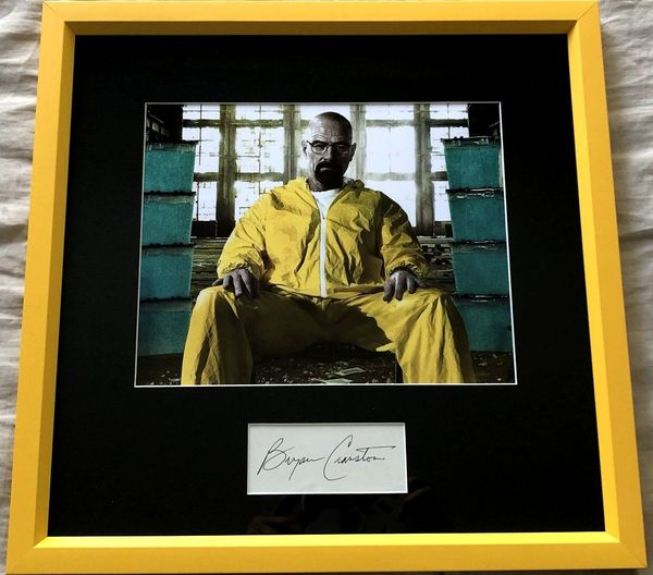 Bryan Cranston autograph matted and framed with Breaking Bad 8x10 photo