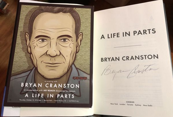 Bryan Cranston autographed A Life In Parts hardcover first edition book