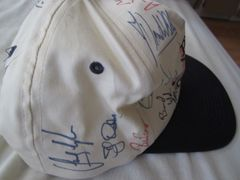 Buick Golf cap or hat autographed by 22 PGA Tour players (Stewart Cink Sandy Lyle Jeff Sluman)