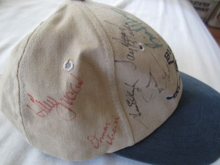 Buick Invitational golf cap or hat autographed by 10 PGA Tour players (Ben Crenshaw Steve Elkington Scott Simpson)