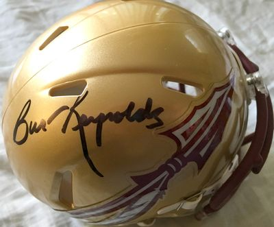 Burt Reynolds autographed Florida State Seminoles Riddell Speed mini helmet (BAS Authenticated)