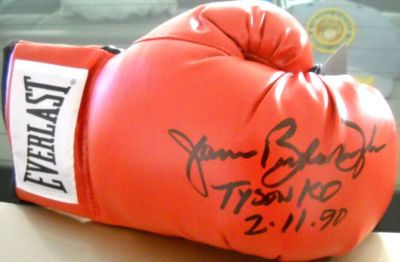 James (Buster) Douglas autographed Everlast boxing glove inscribed TYSON KO dated 2-11-90