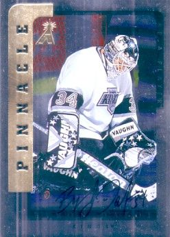 Byron Dafoe certified autograph Los Angeles Kings Be A Player card
