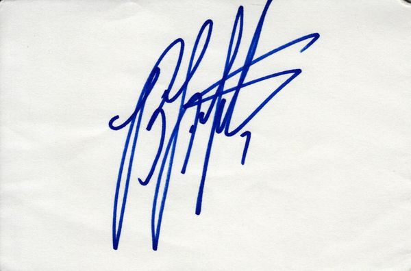 Byron Leftwich autographed 4x6 index card