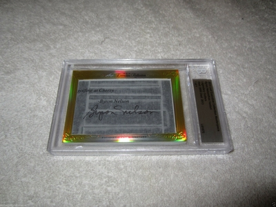 Byron Nelson and Ken Venturi 2014 Leaf Cut Signature certified autograph card 1/1 JSA