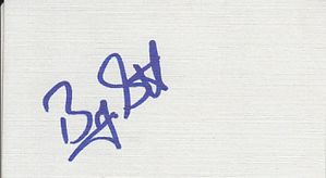 Byron Scott autographed business card