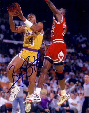Byron Scott autographed Los Angeles Lakers 8x10 photo