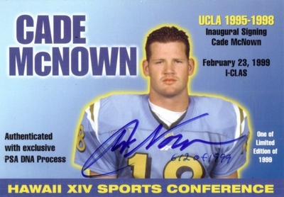 Cade McNown certified autograph 1999 UCLA 3x5 card (PSA/DNA)