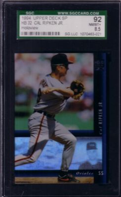 Cal Ripken 1994 SP Holoview graded SGC 92 (NrMt-Mt++)