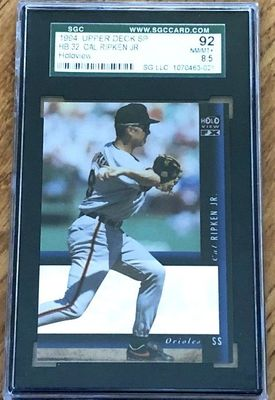 Cal Ripken Baltimore Orioles 1994 SP Holoview insert card graded SGC 92 (BGS or PSA 8.5)