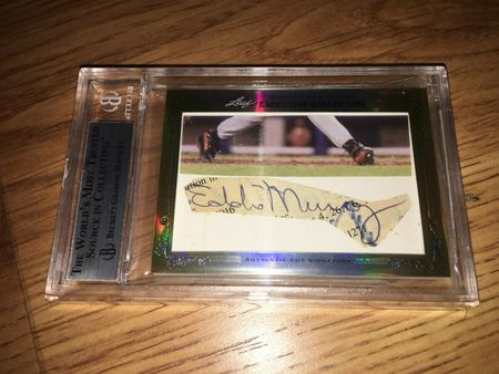 Cal Ripken and Eddie Murray 2013 Leaf Masterpiece Cut Signature certified autograph card 1/1 JSA