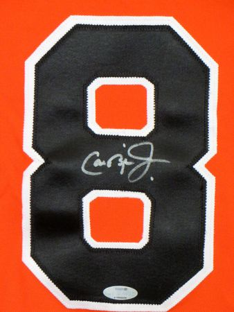 Cal Ripken autographed 1991 Baltimore Orioles orange alternate authentic Majestic throwback jersey (Ironclad)