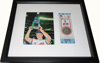Cal Ripken autographed 1991 MLB All-Star Game full ticket matted and framed with photo