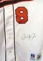 Cal Ripken autographed 1995 Baltimore Orioles authentic Russell game model jersey (Ironclad)