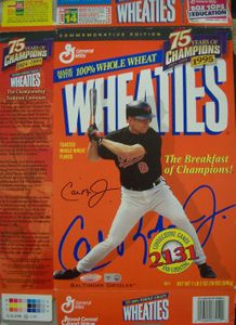 Cal Ripken autographed 1999 Wheaties 75 Years of Champions box