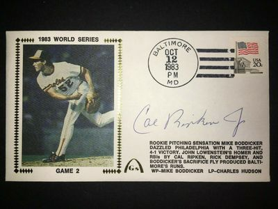 Cal Ripken autographed Baltimore Orioles 1983 World Series Gateway cachet (full name signature)