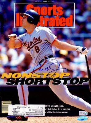 Cal Ripken autographed Baltimore Orioles 1991 Sports Illustrated (Ironclad Authentics)