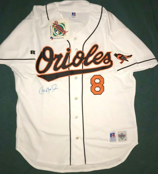 Cal Ripken autographed Baltimore Orioles 1995 authentic Russell game model jersey (Score Board)