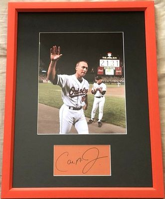 Cal Ripken autograph matted and framed with Baltimore Orioles 2131 Consecutive Games 8x10 photo