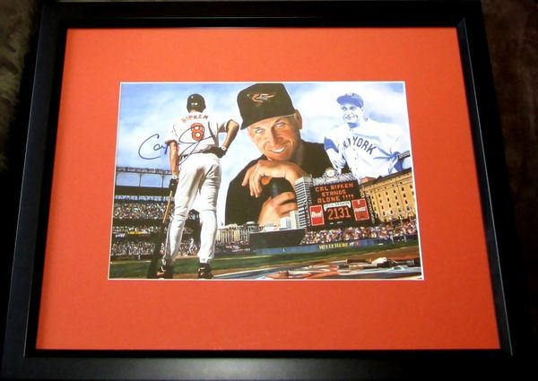 Cal Ripken autographed Baltimore Orioles 2131 Consecutive Games artwork matted & framed