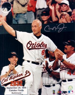 Cal Ripken autographed Baltimore Orioles 2632 Consecutive Games 8x10 photo