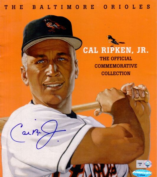 Cal Ripken autographed Baltimore Orioles Commemorative Collection catalog