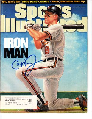 Cal Ripken autographed Baltimore Orioles Iron Man 1995 Sports Illustrated