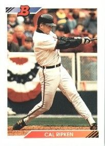 Cal Ripken Baltimore Orioles 1992 Bowman card MINT