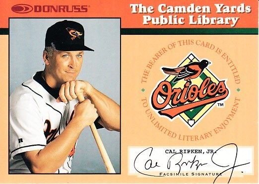 Cal Ripken Baltimore Orioles 1997 Donruss The Only Way I Know book insert card
