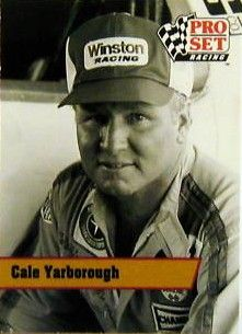 Cale Yarborough 1991 Pro Set Racing Legends insert card L14