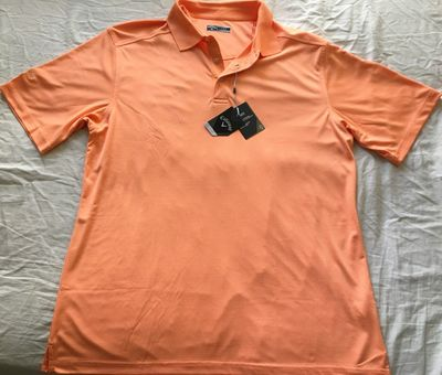 Callaway orange striped Opti Dri golf shirt BRAND NEW WITH TAGS