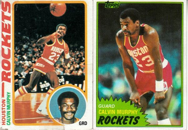 Calvin Murphy Houston Rockets 1978-79 Topps and 1981-82 Topps cards