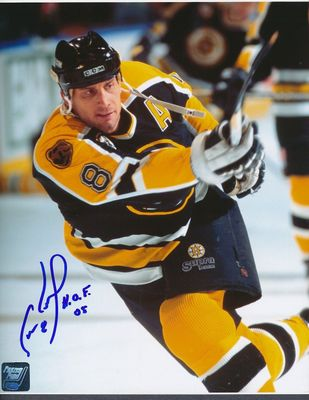 Cam Neely autographed Boston Bruins 8x10 photo inscribed H.O.F. 05