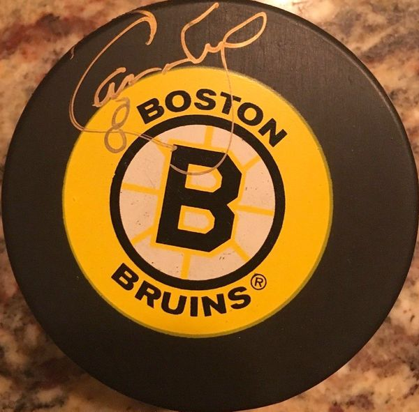 Cam Neely autographed Boston Bruins vintage logo puck